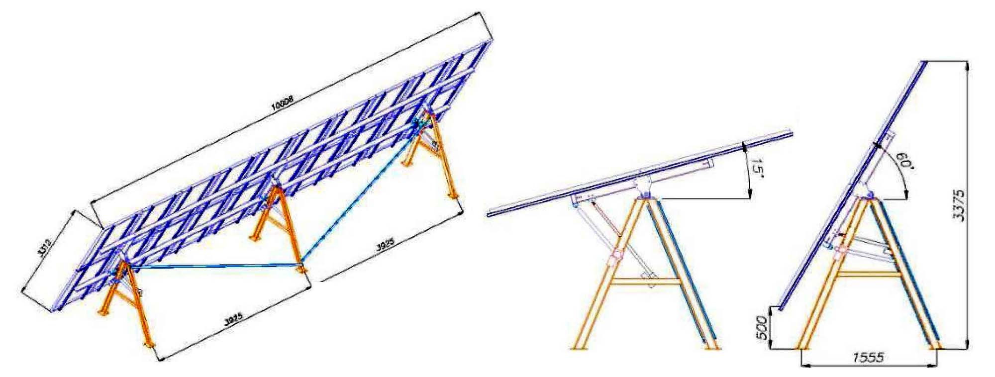 трекери одновісні single-axis solar trackers ukrainian systems