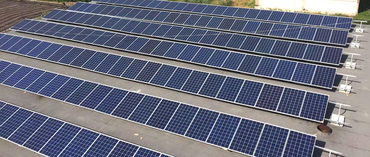 дахові сонячні конструкції rooftop solar structures